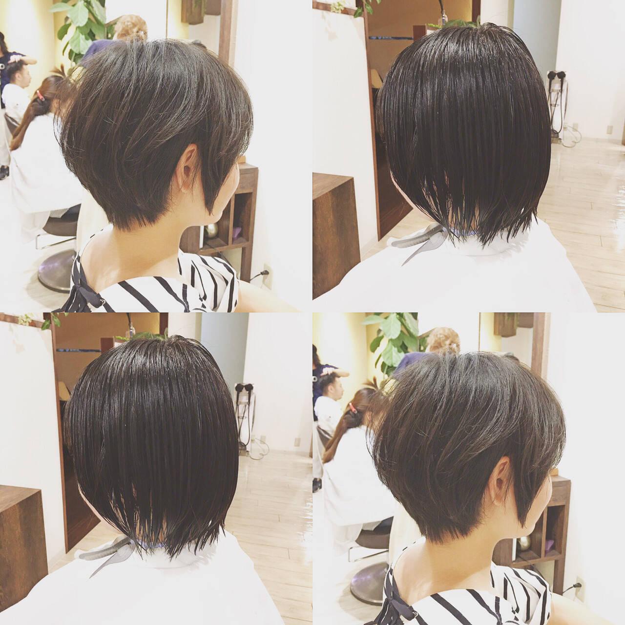 マッシュ ベリーショート ショート 黒髪ヘアスタイルや髪型の写真・画像