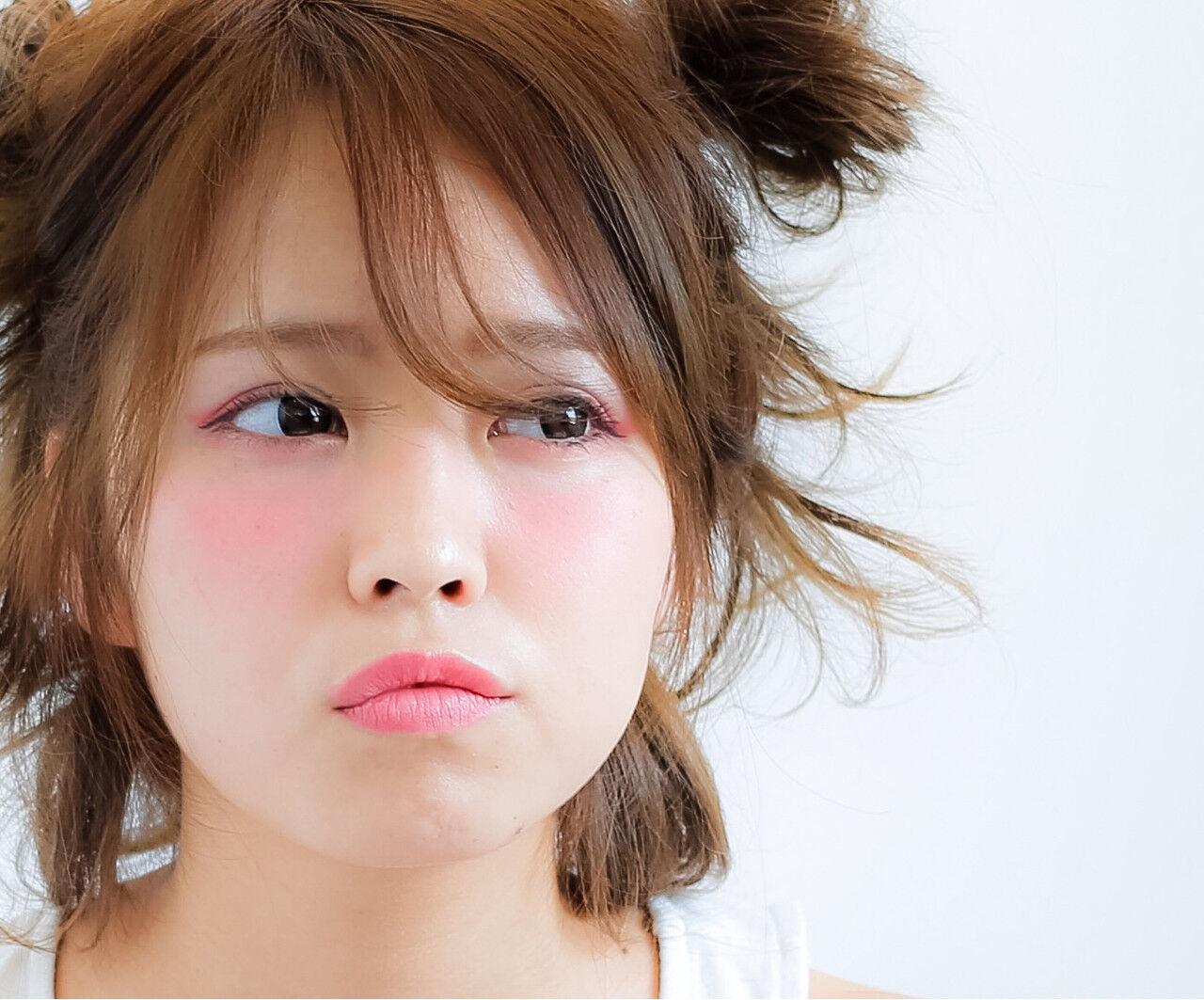 フェミニン ヘアアレンジ ハーフアップ ミディアムヘアスタイルや髪型の写真・画像