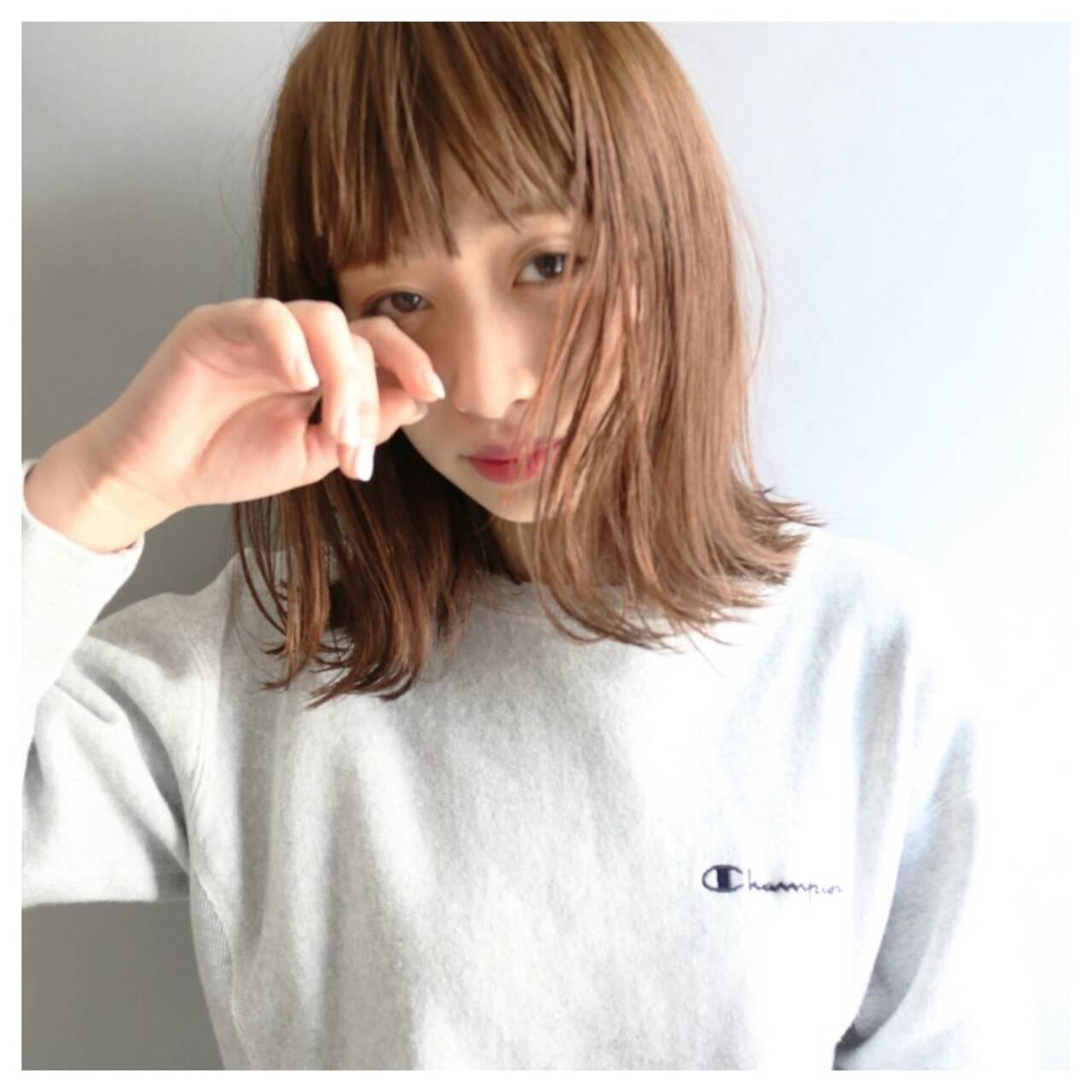 外国人風 ストリート ミディアム ハイライトヘアスタイルや髪型の写真・画像