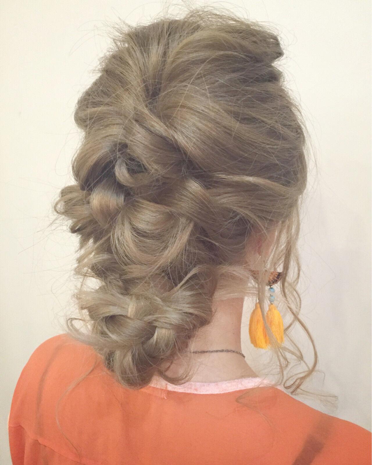 ショート 夏 くせ毛風 ロングヘアスタイルや髪型の写真・画像