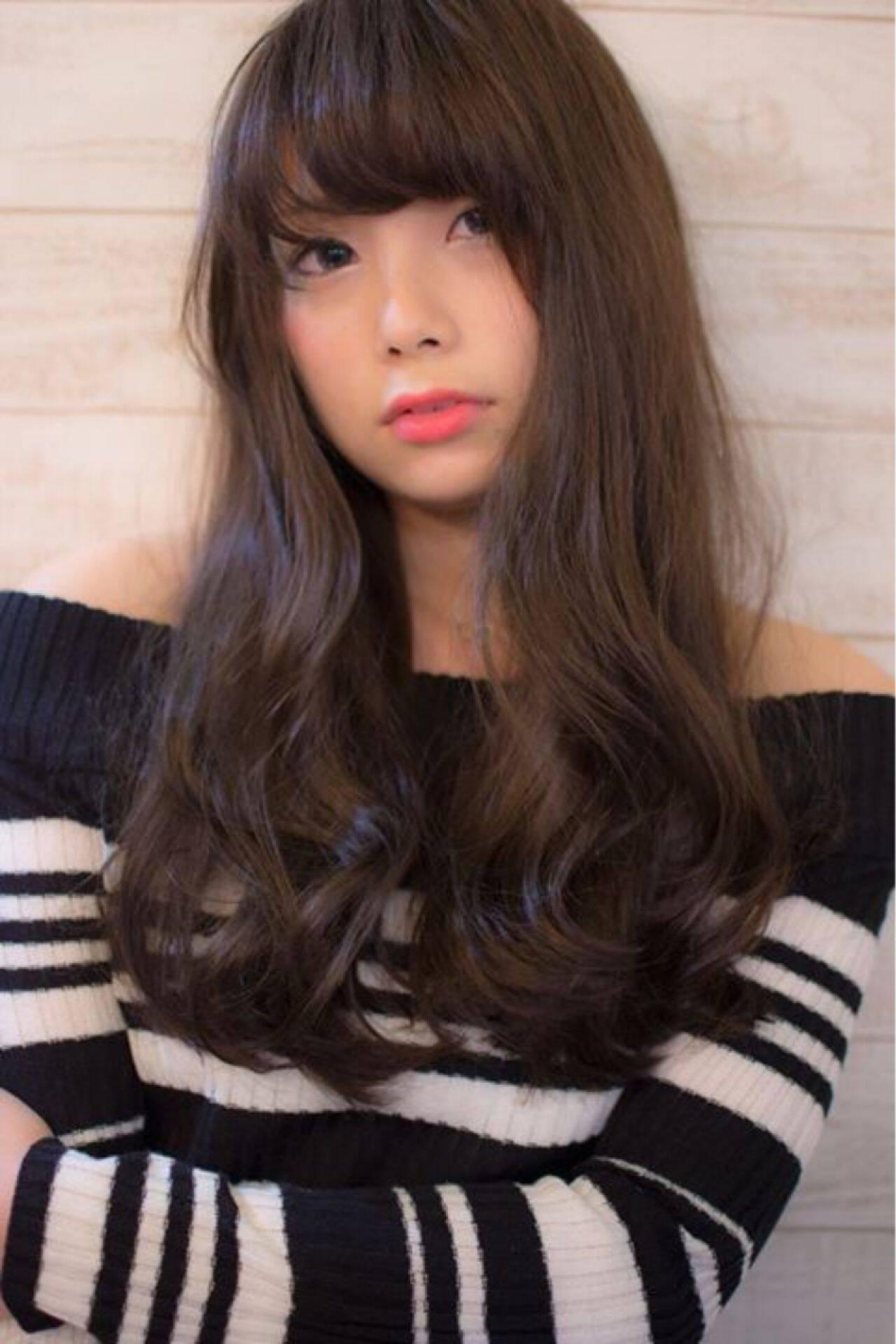 ロング 秋 冬 かっこいいヘアスタイルや髪型の写真・画像