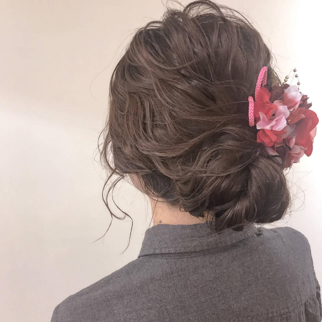 波ウェーブ 謝恩会 ゆるふわ デートヘアスタイルや髪型の写真・画像