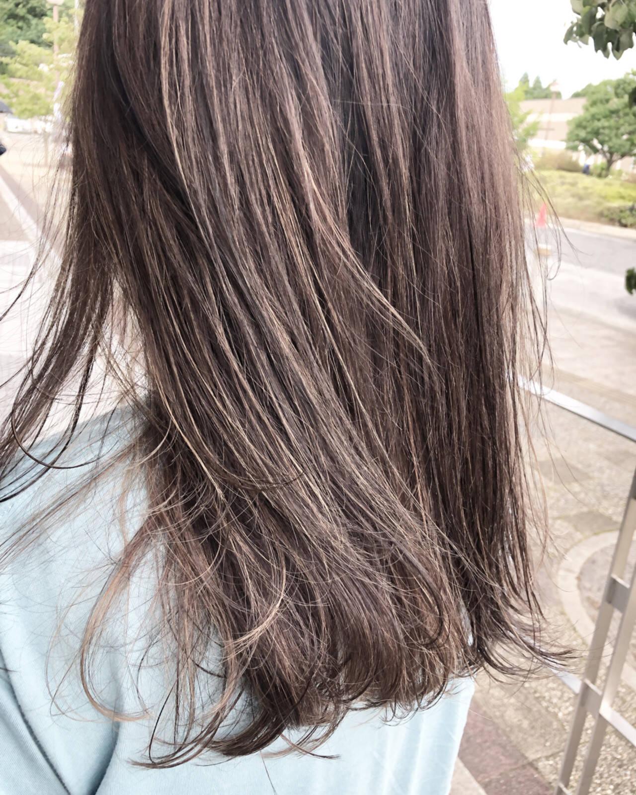 ハイトーン セミロング ブリーチ 外国人風カラーヘアスタイルや髪型の写真・画像