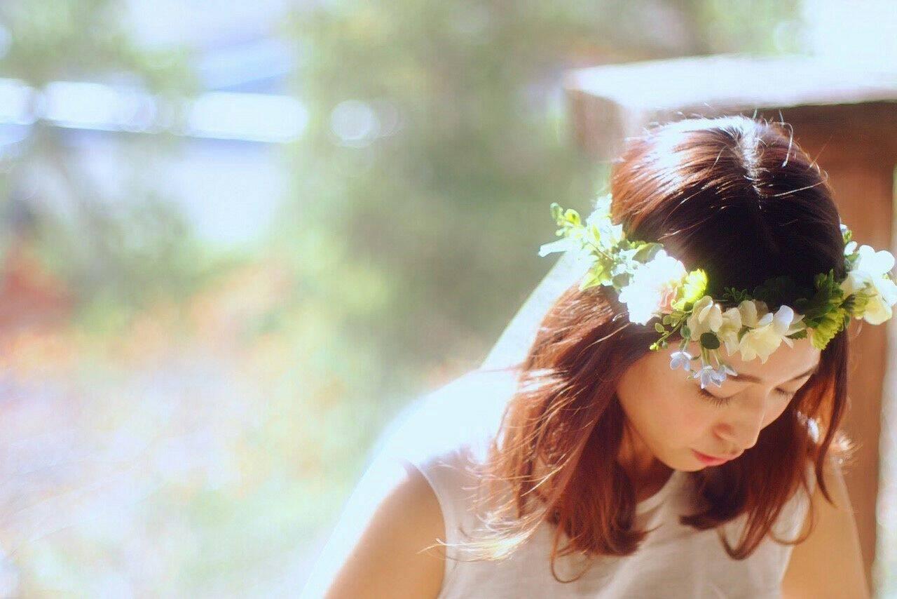 セミロング ヘアアレンジ 振袖 花嫁ヘアスタイルや髪型の写真・画像