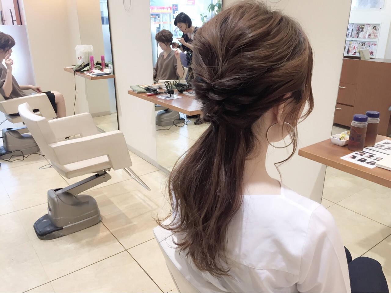 大人女子 ゆるふわ ヘアアレンジ ロングヘアスタイルや髪型の写真・画像