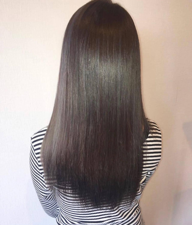 ナチュラル ロングヘアスタイルや髪型の写真・画像