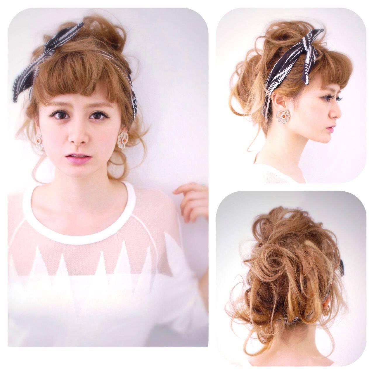 簡単ヘアアレンジ 無造作 コンサバ ショートヘアスタイルや髪型の写真・画像