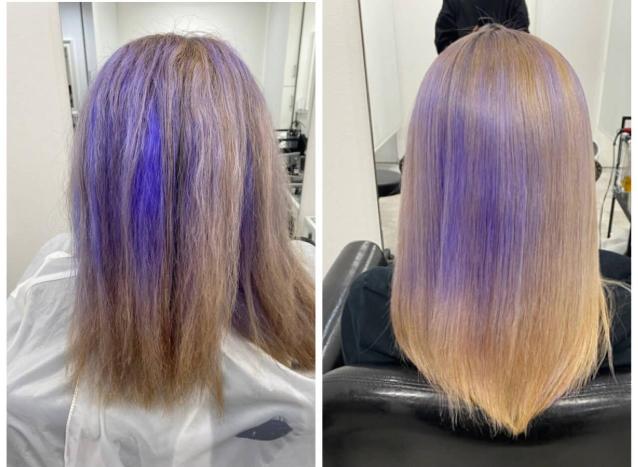 ロング コンサバ 縮毛矯正 髪質改善ヘアスタイルや髪型の写真・画像