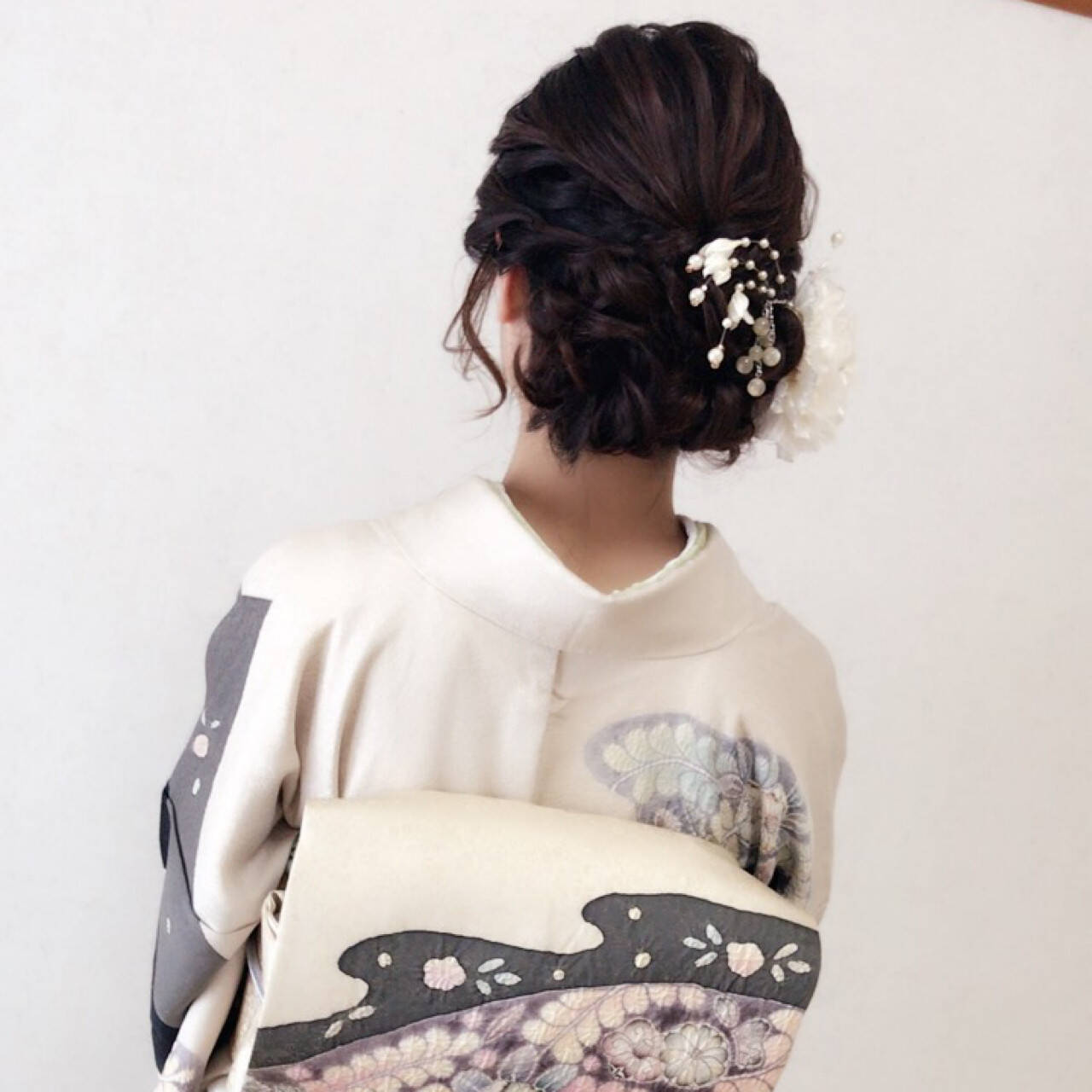 上品 結婚式 デート エレガントヘアスタイルや髪型の写真・画像