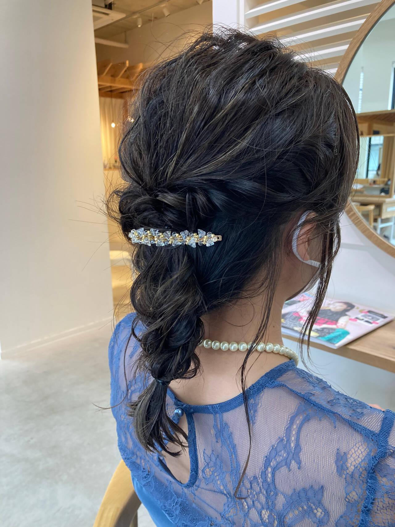 簡単ヘアアレンジ パーティー 大人かわいい 大人女子ヘアスタイルや髪型の写真・画像