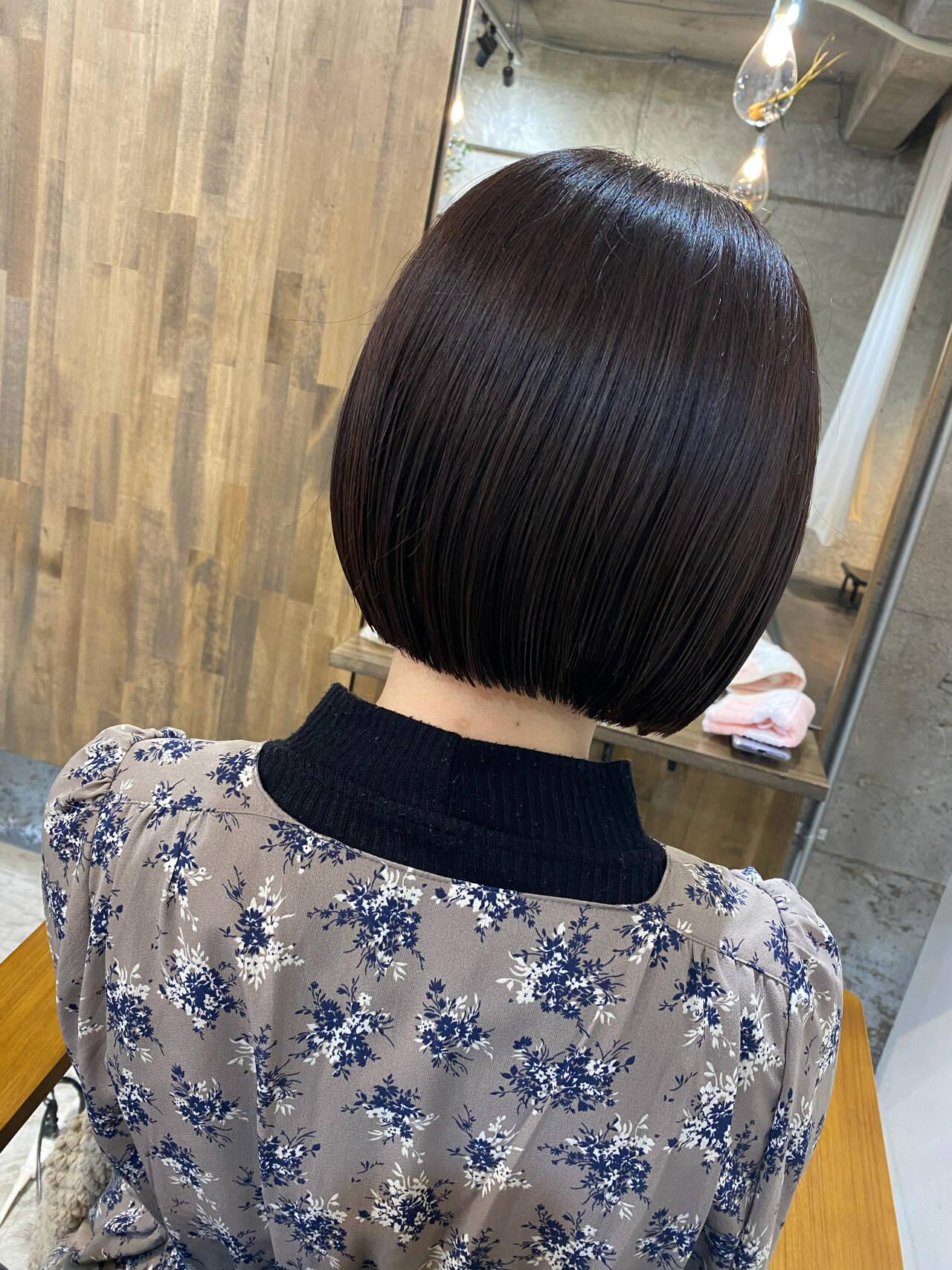 ボブ 艶髪 こなれ感 ナチュラルヘアスタイルや髪型の写真・画像