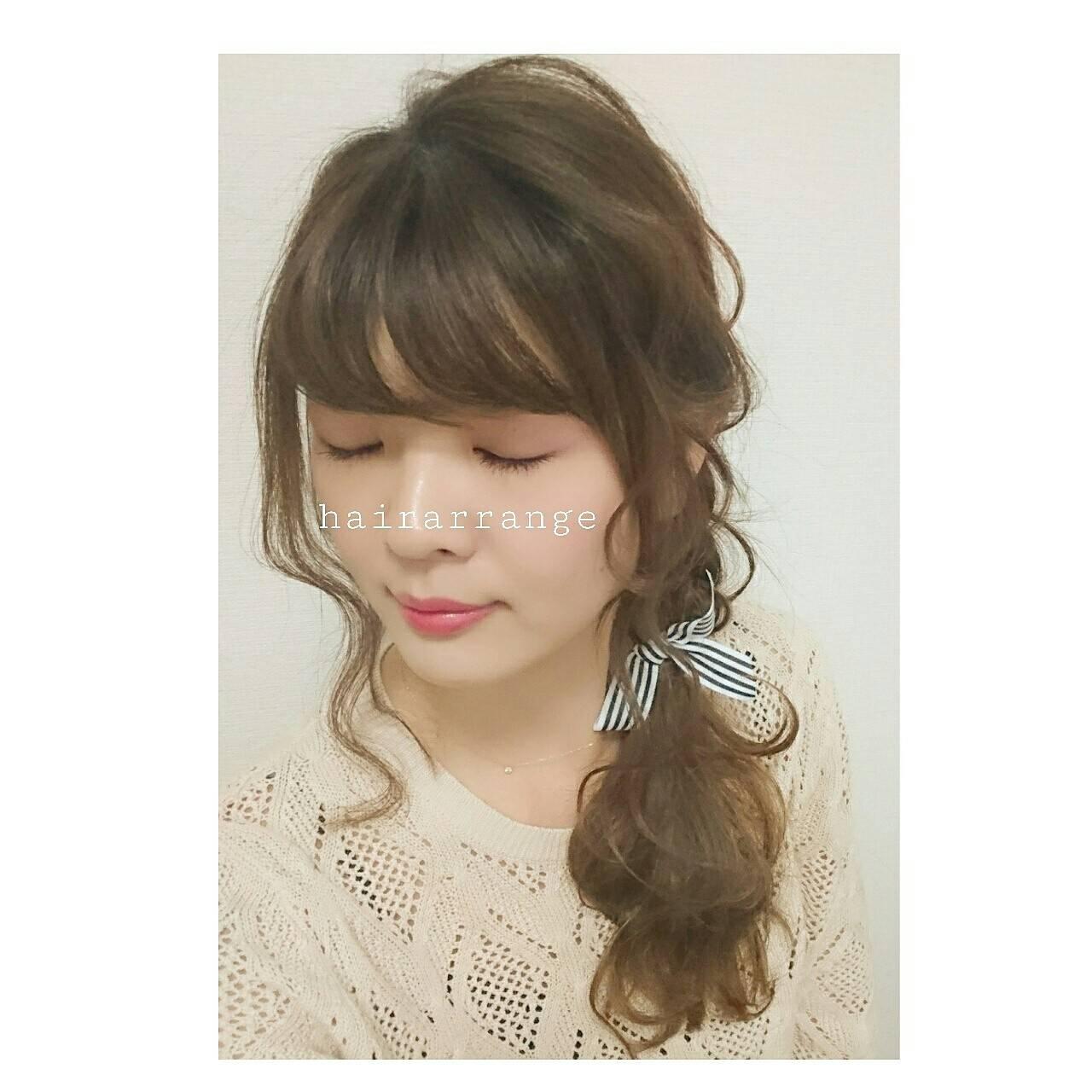 シニヨン ナチュラル セルフヘアアレンジ ヘアアレンジヘアスタイルや髪型の写真・画像