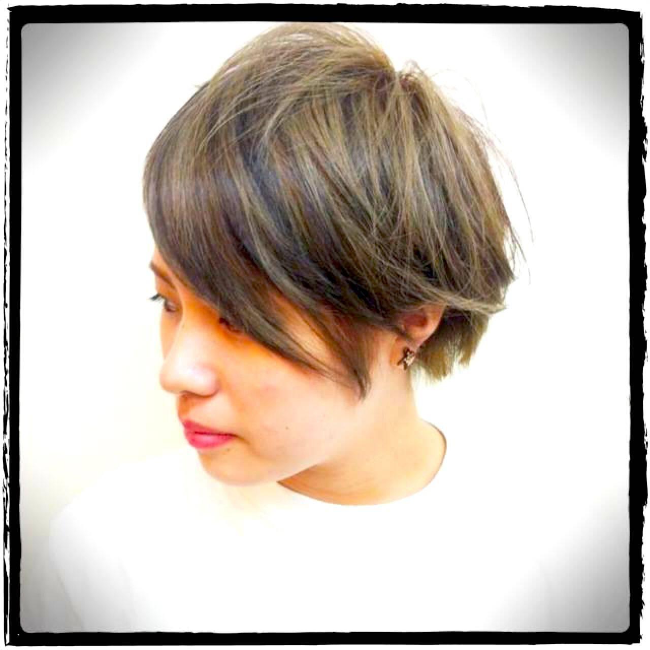 ストリート ショート ナチュラル 黒髪ヘアスタイルや髪型の写真・画像