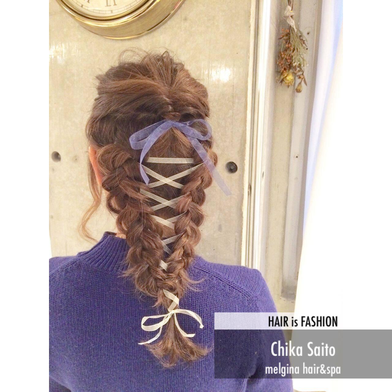 アップスタイル ヘアアレンジ ストリートヘアスタイルや髪型の写真・画像