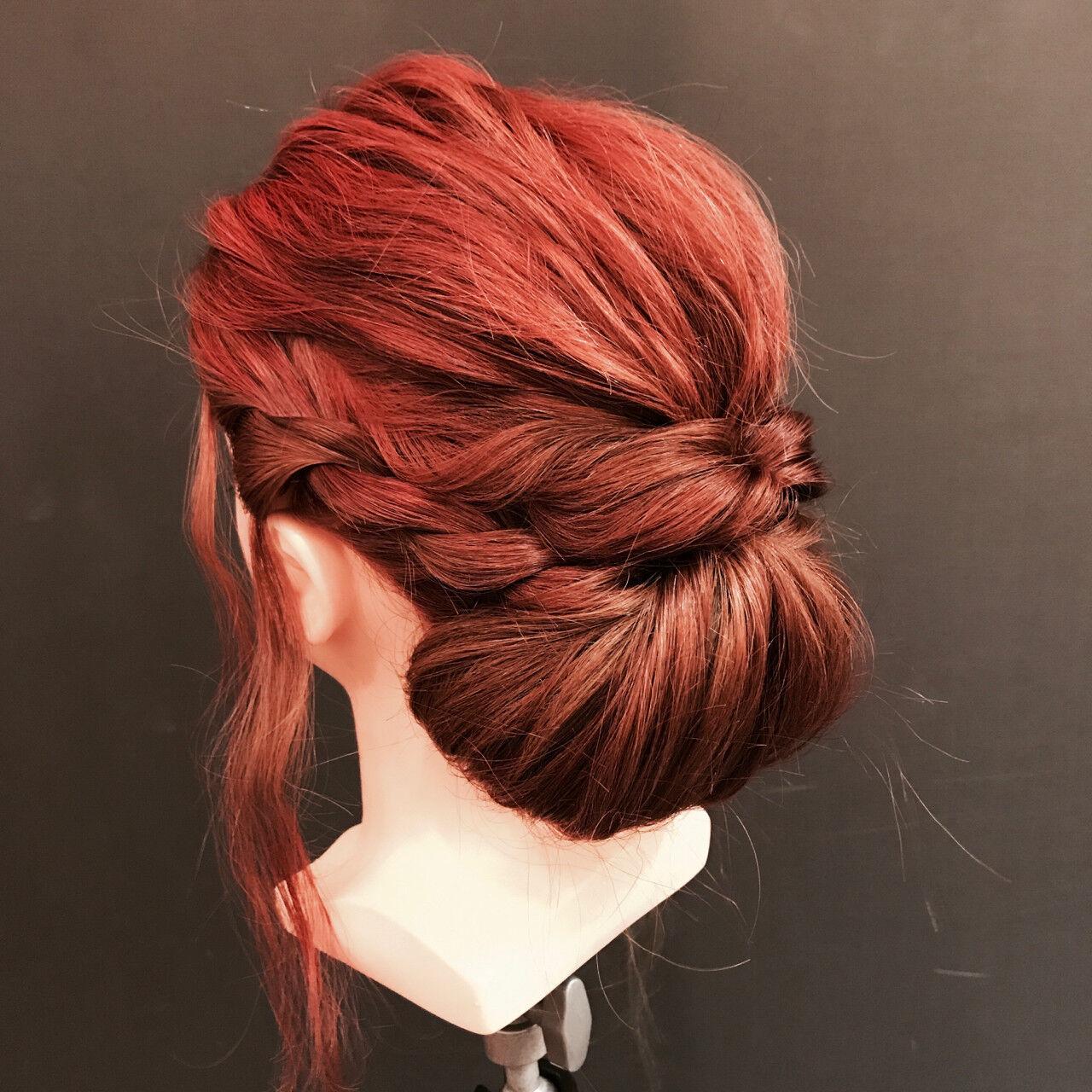 エレガント 上品 結婚式 くるりんぱヘアスタイルや髪型の写真・画像