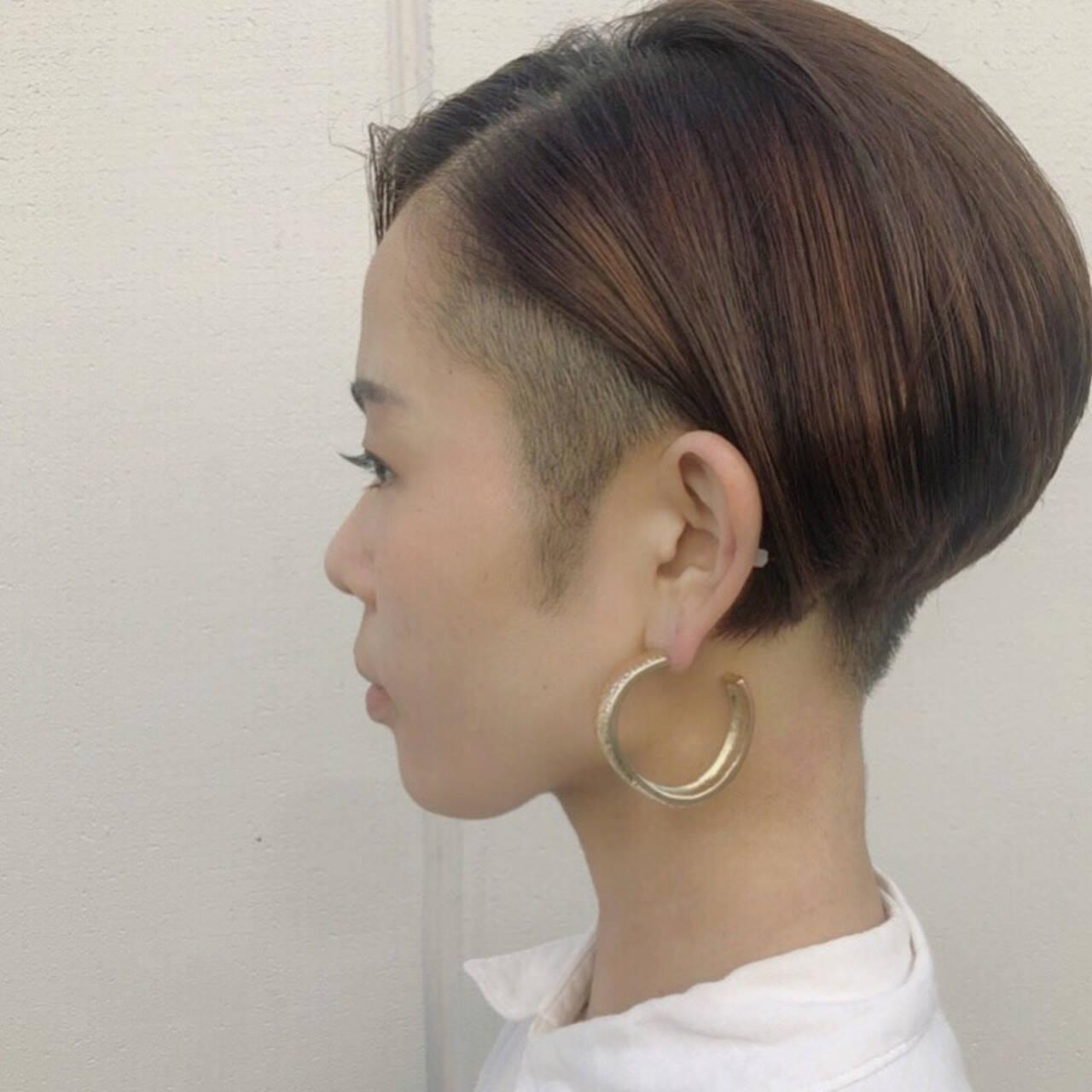 ショート マニッシュ ハンサムショート 刈り上げショートヘアスタイルや髪型の写真・画像