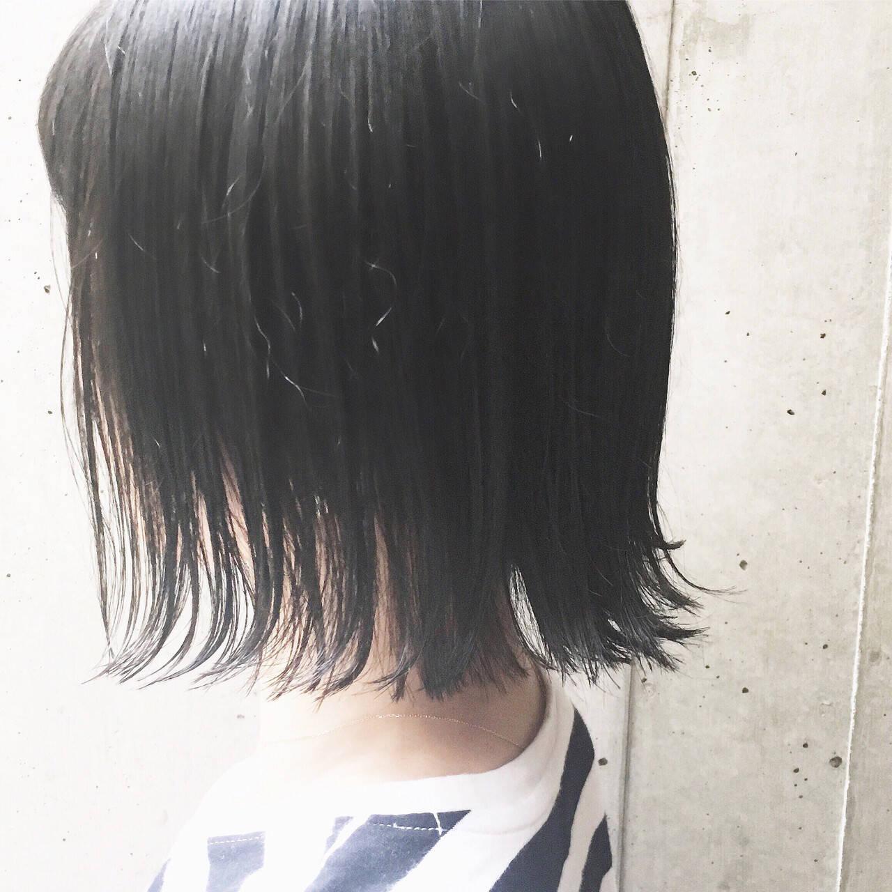 ナチュラル 透明感 切りっぱなし 大人女子ヘアスタイルや髪型の写真・画像