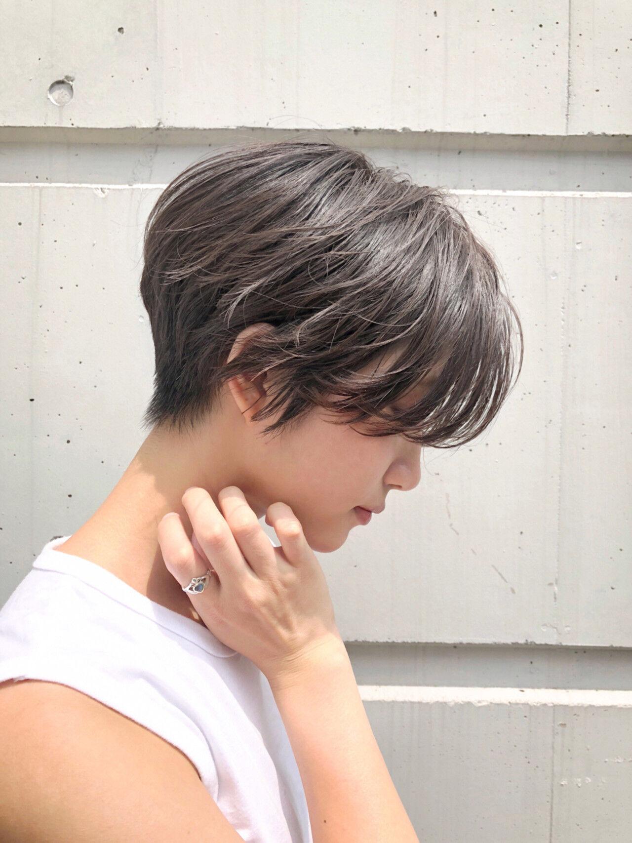 女子力 ショート ヘアアレンジ ショートボブヘアスタイルや髪型の写真・画像