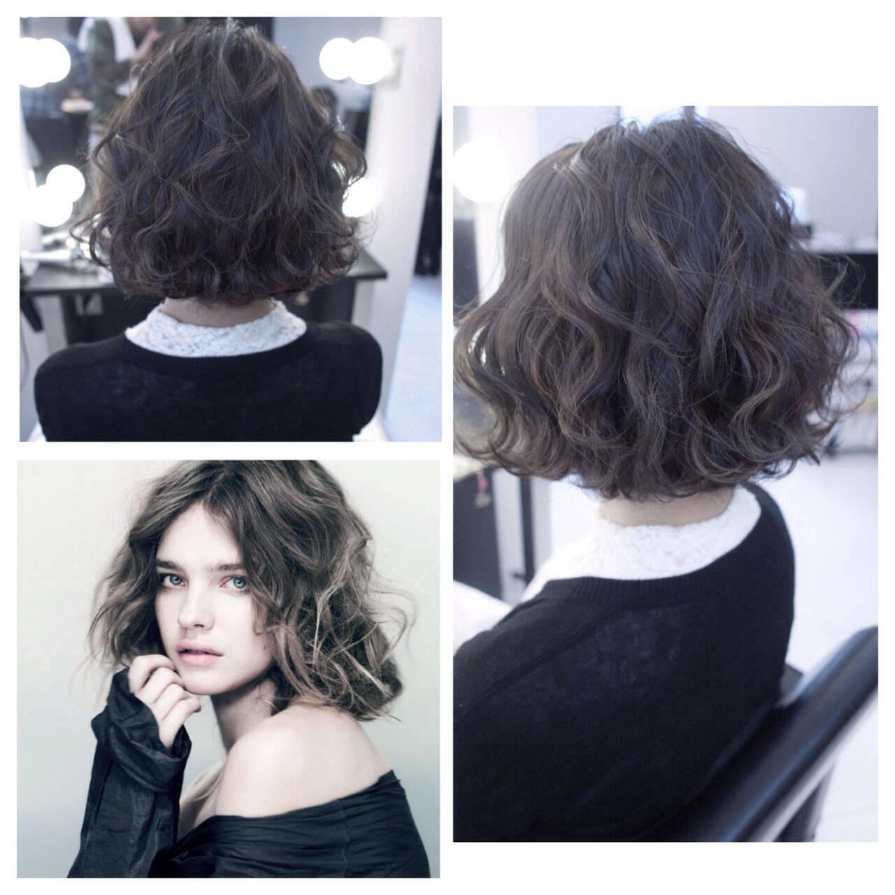 モード ストリート 秋 ウェーブヘアスタイルや髪型の写真・画像