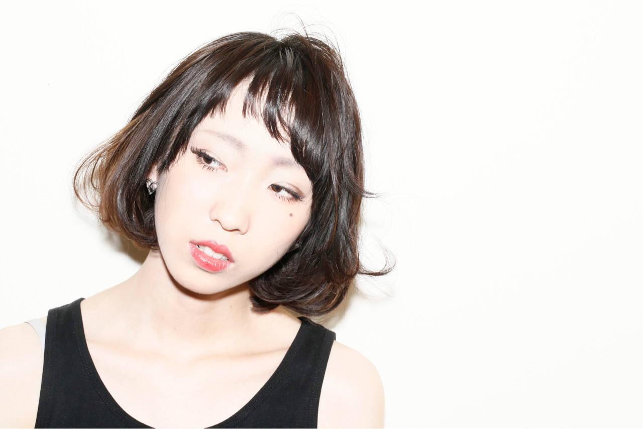 モード 大人かわいい パーマ ダブルカラーヘアスタイルや髪型の写真・画像