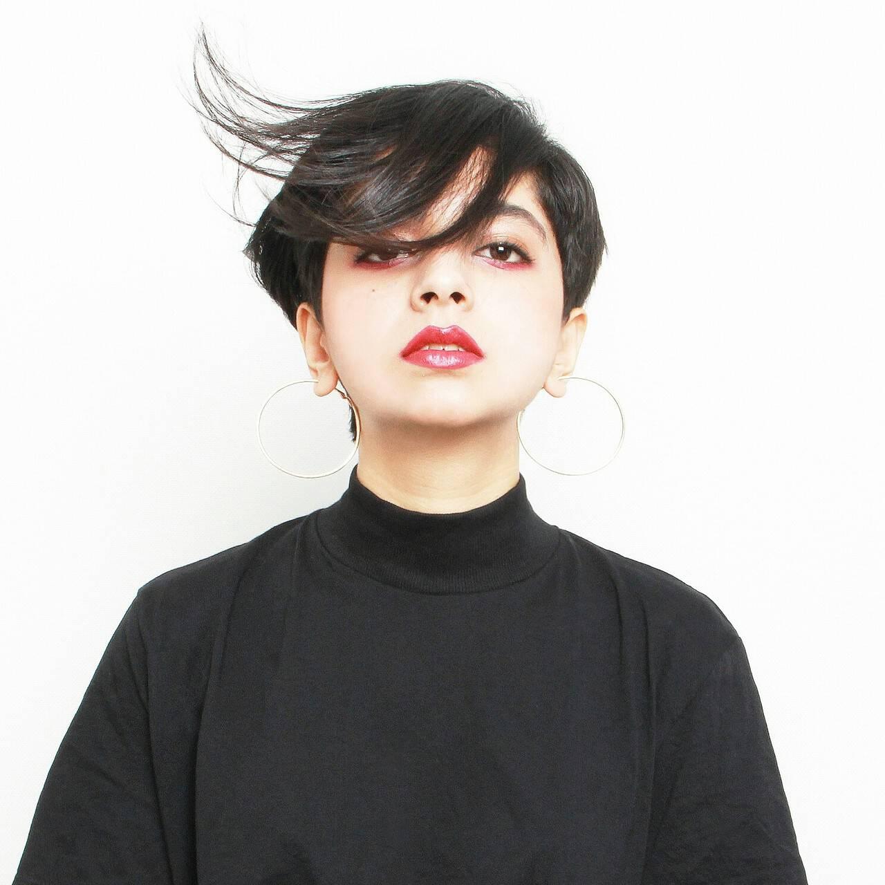 ショート モードヘアスタイルや髪型の写真・画像