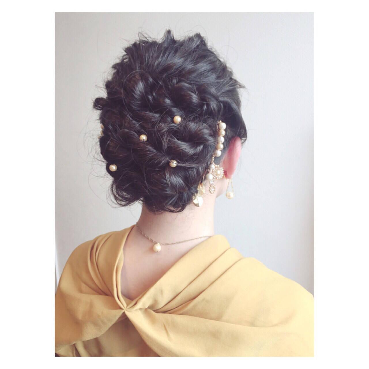 クラシカル 外国人風 ロープ編み ヘアアレンジヘアスタイルや髪型の写真・画像