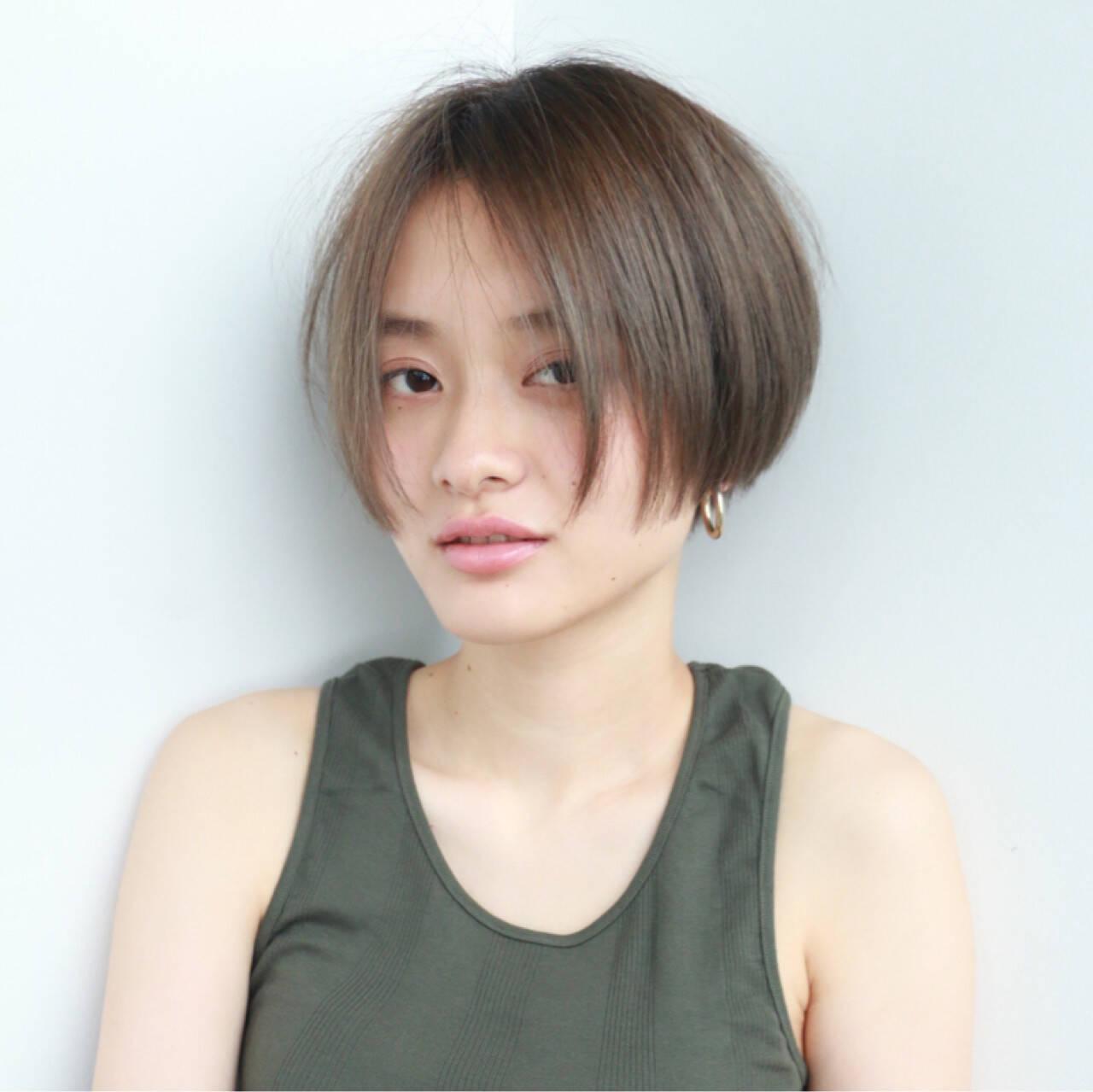 ストリート ブリーチ ダブルカラー フレンチセピアアッシュヘアスタイルや髪型の写真・画像