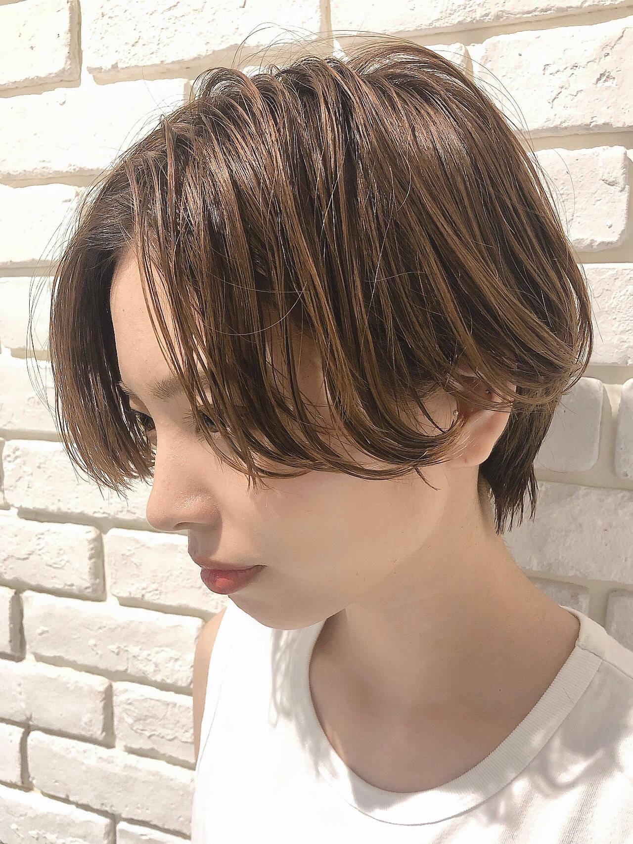 ショート エレガント ショートヘアヘアスタイルや髪型の写真・画像