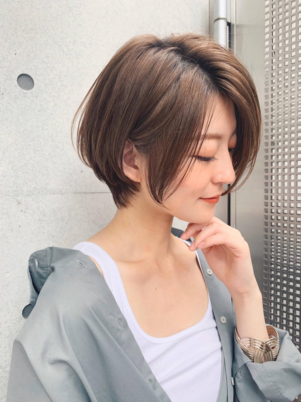 ミニボブ ショート ベリーショート ショートヘアヘアスタイルや髪型の写真・画像
