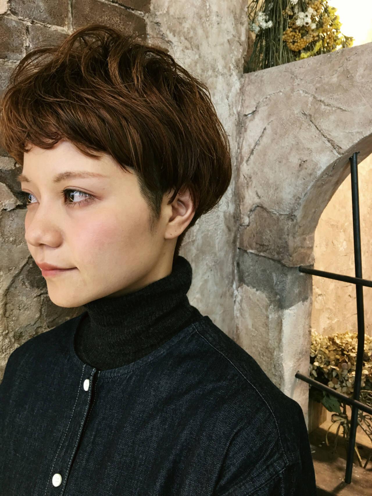 かわいい ナチュラル ショート ベリーショートヘアスタイルや髪型の写真・画像