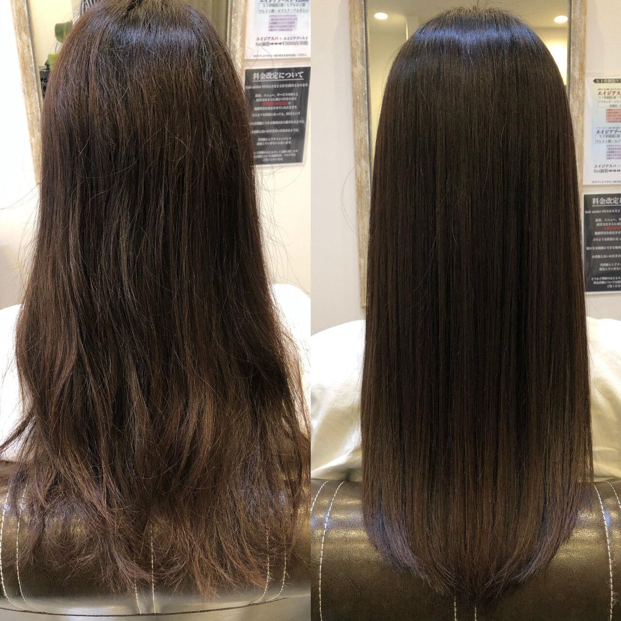 髪質改善 トリートメント 縮毛矯正 髪質改善トリートメントヘアスタイルや髪型の写真・画像