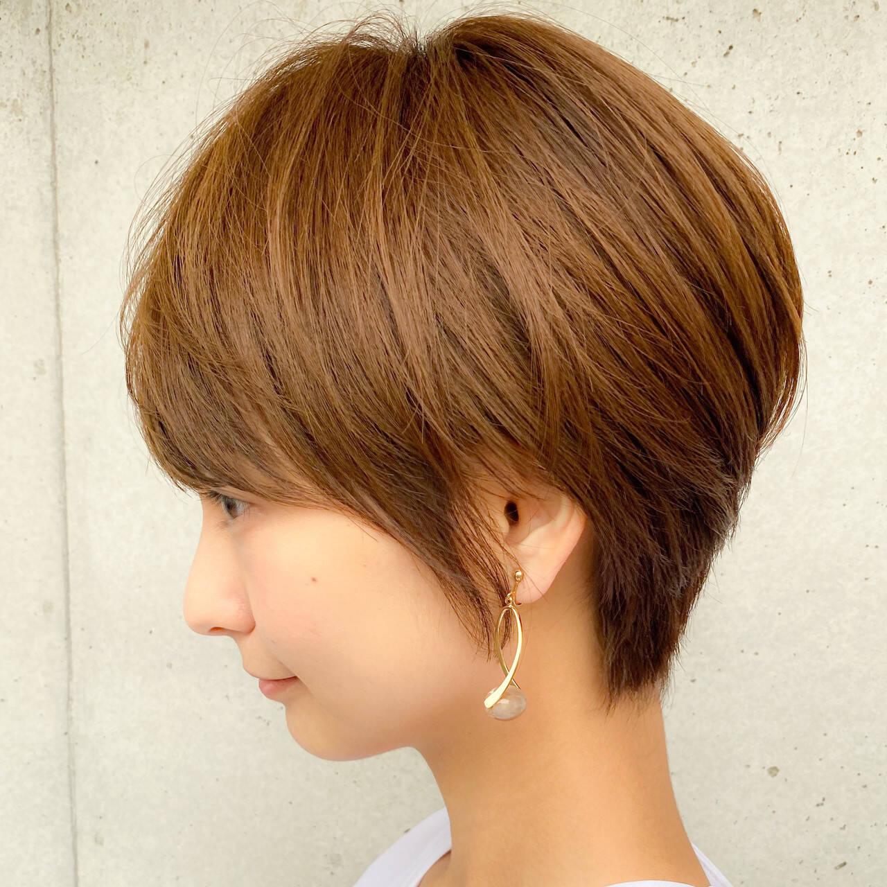 大人かわいい ショートボブ ミニボブ 透明感カラーヘアスタイルや髪型の写真・画像