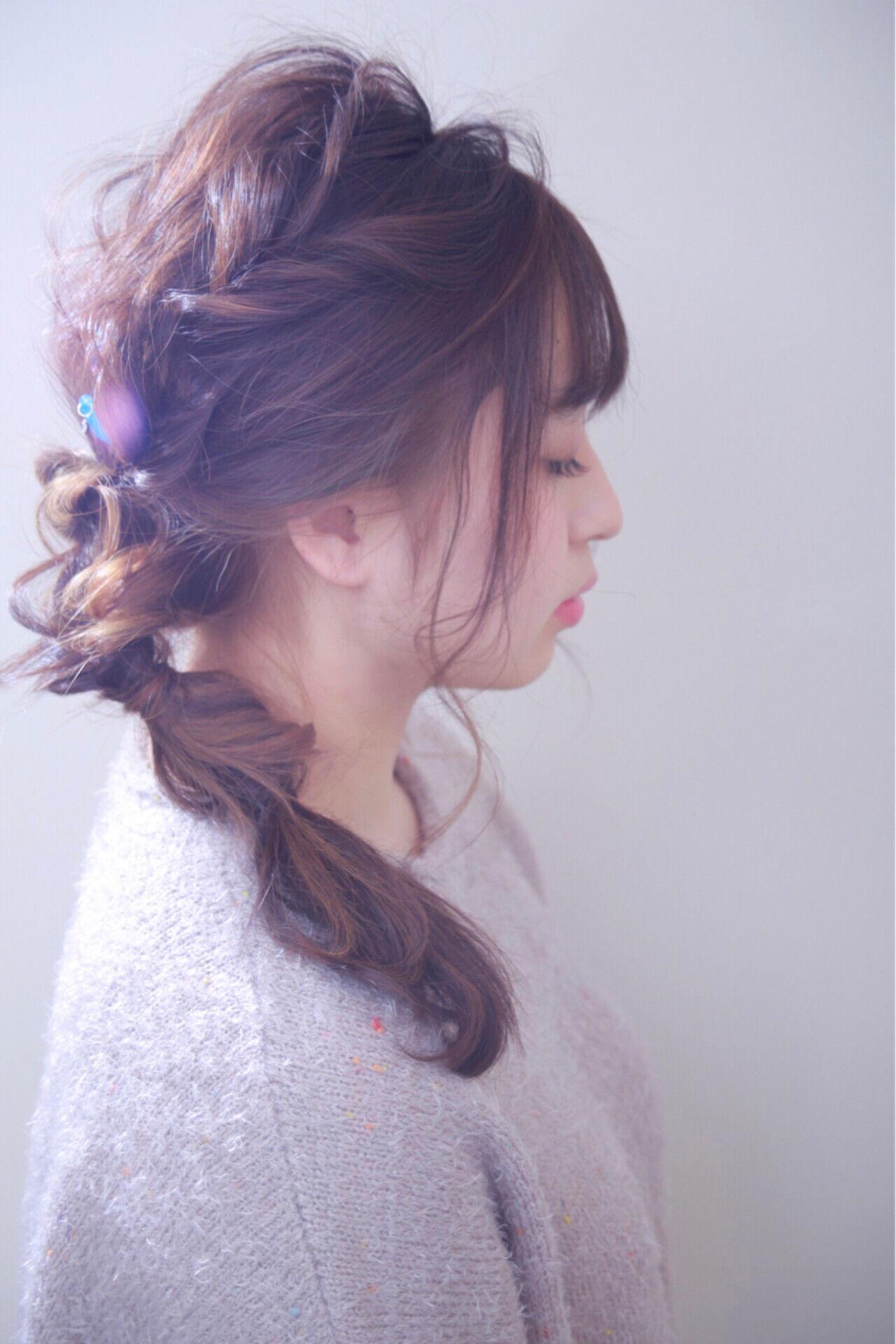 外国人風カラー 結婚式 ヘアアレンジ ゆるふわヘアスタイルや髪型の写真・画像