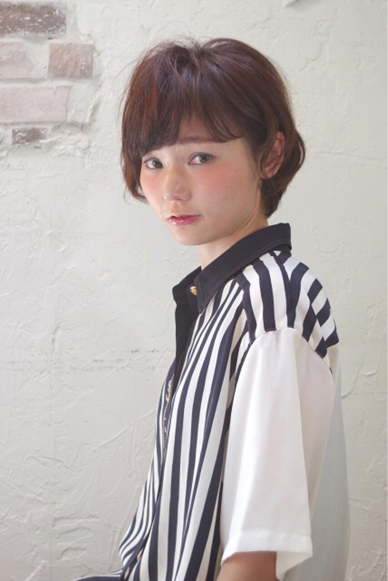 ピュア ガーリー ショート 大人かわいいヘアスタイルや髪型の写真・画像
