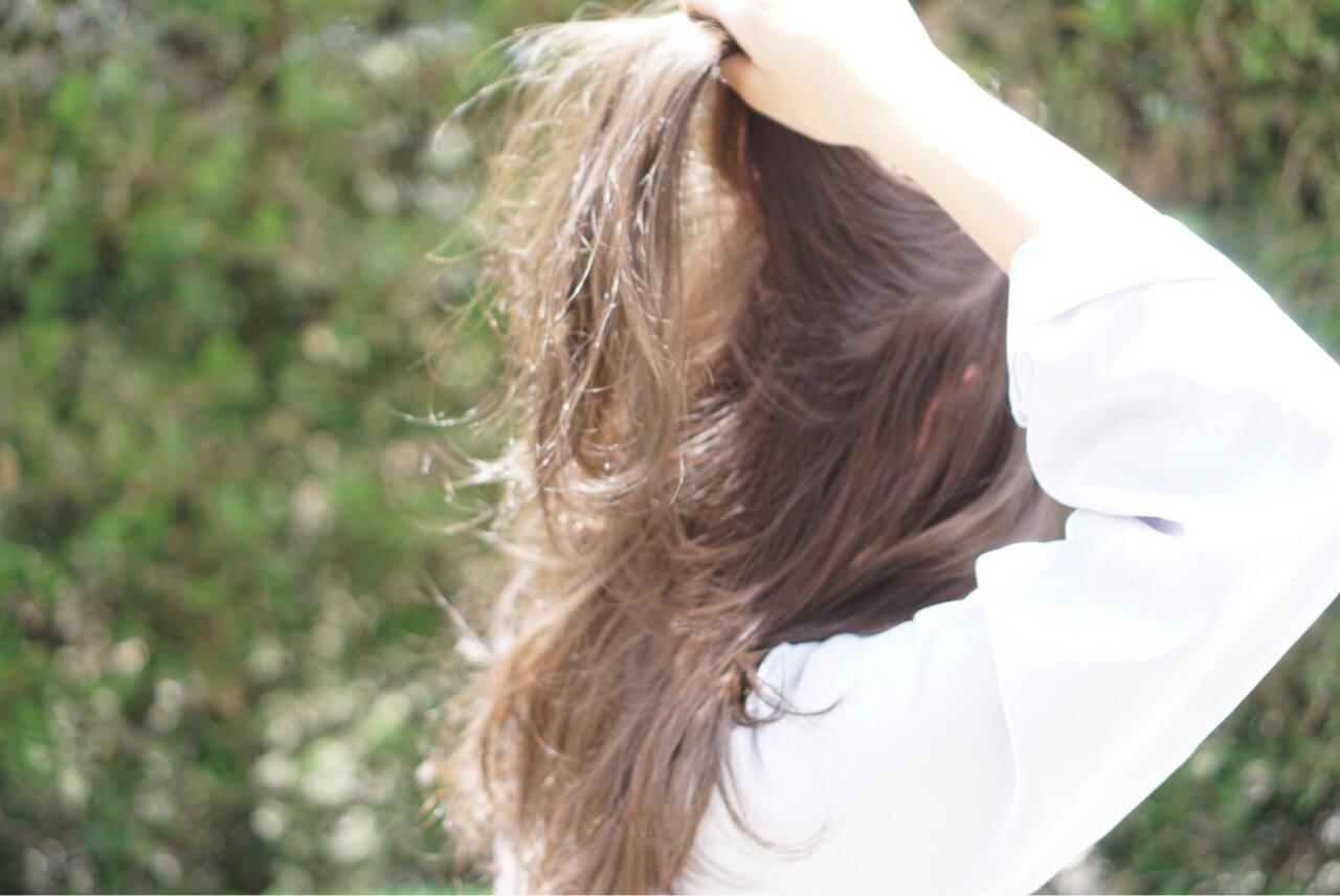 ナチュラル ロング 透明感 外国人風カラーヘアスタイルや髪型の写真・画像