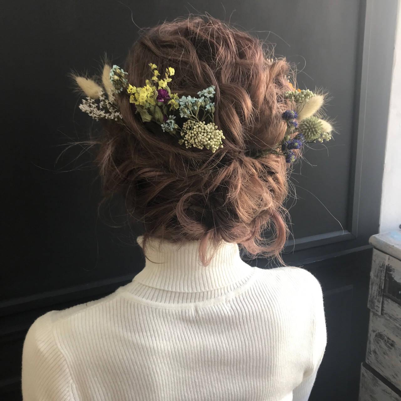 ボブ パーティ 結婚式 ヘアアレンジヘアスタイルや髪型の写真・画像