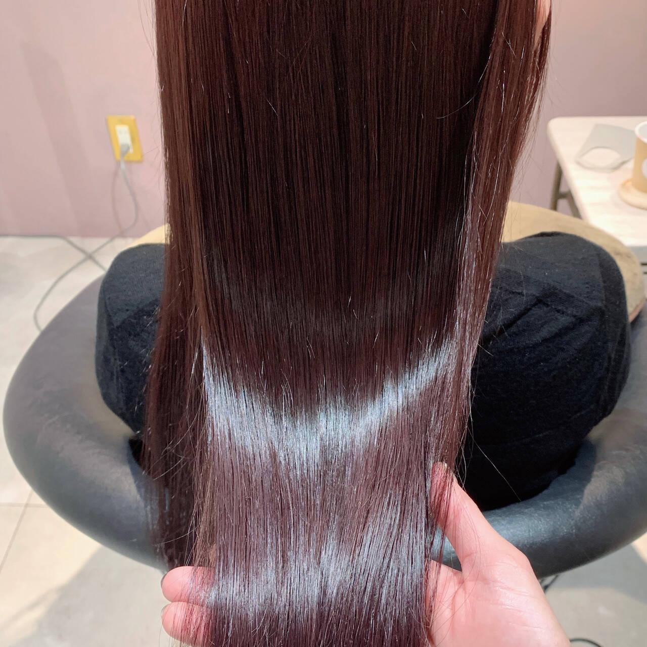 ナチュラル カシスカラー ピンク ラベンダーピンクヘアスタイルや髪型の写真・画像