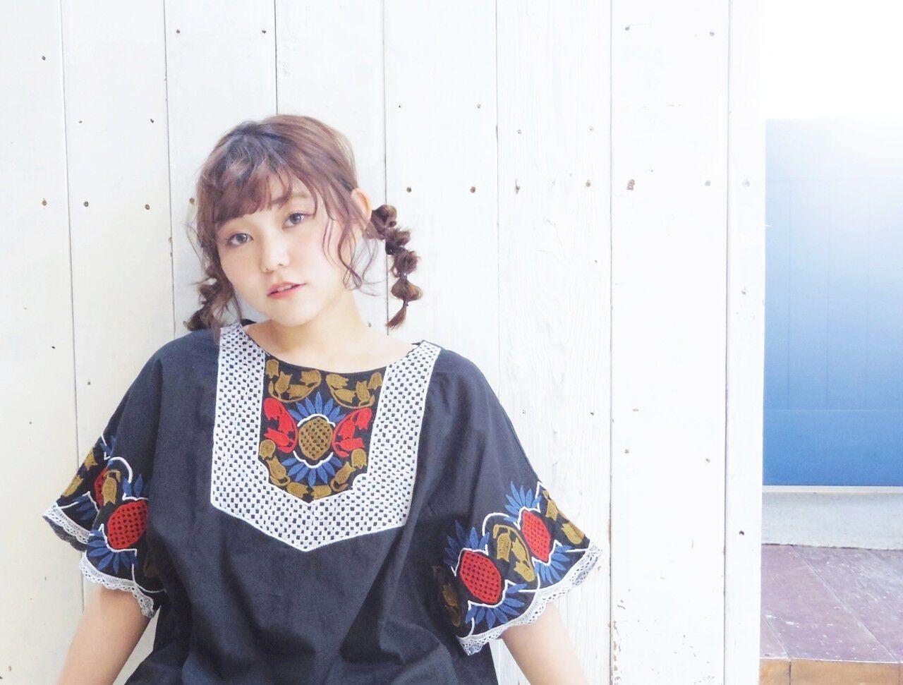 デート 三つ編み ガーリー ミディアムヘアスタイルや髪型の写真・画像