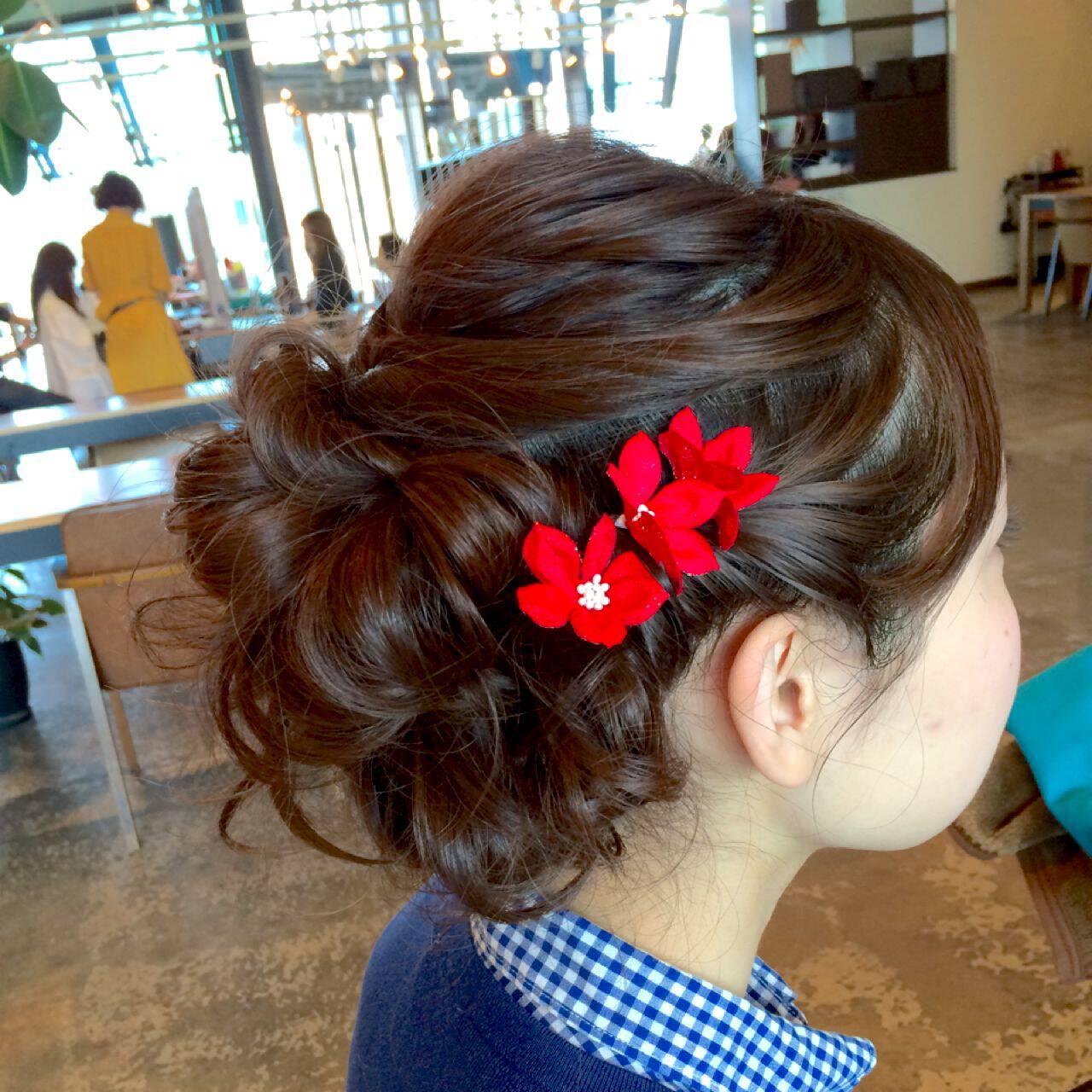編み込み アップスタイル パーティ コンサバヘアスタイルや髪型の写真・画像