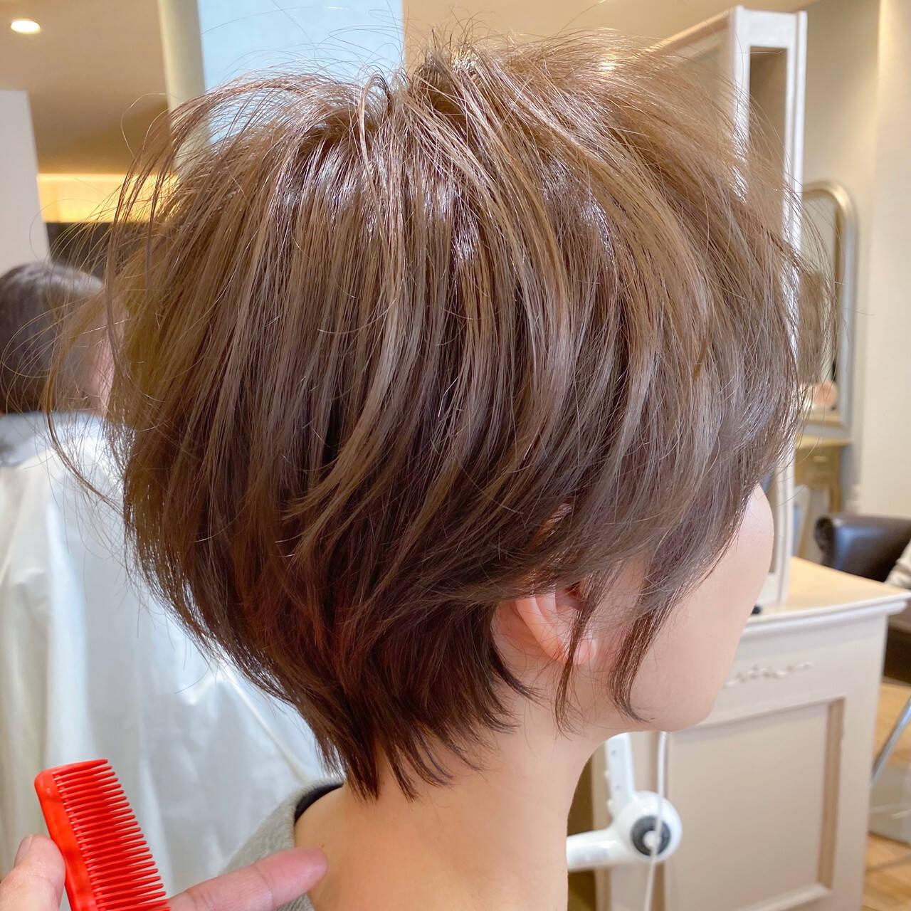 ナチュラル 丸みショート ショート 小顔ショートヘアスタイルや髪型の写真・画像