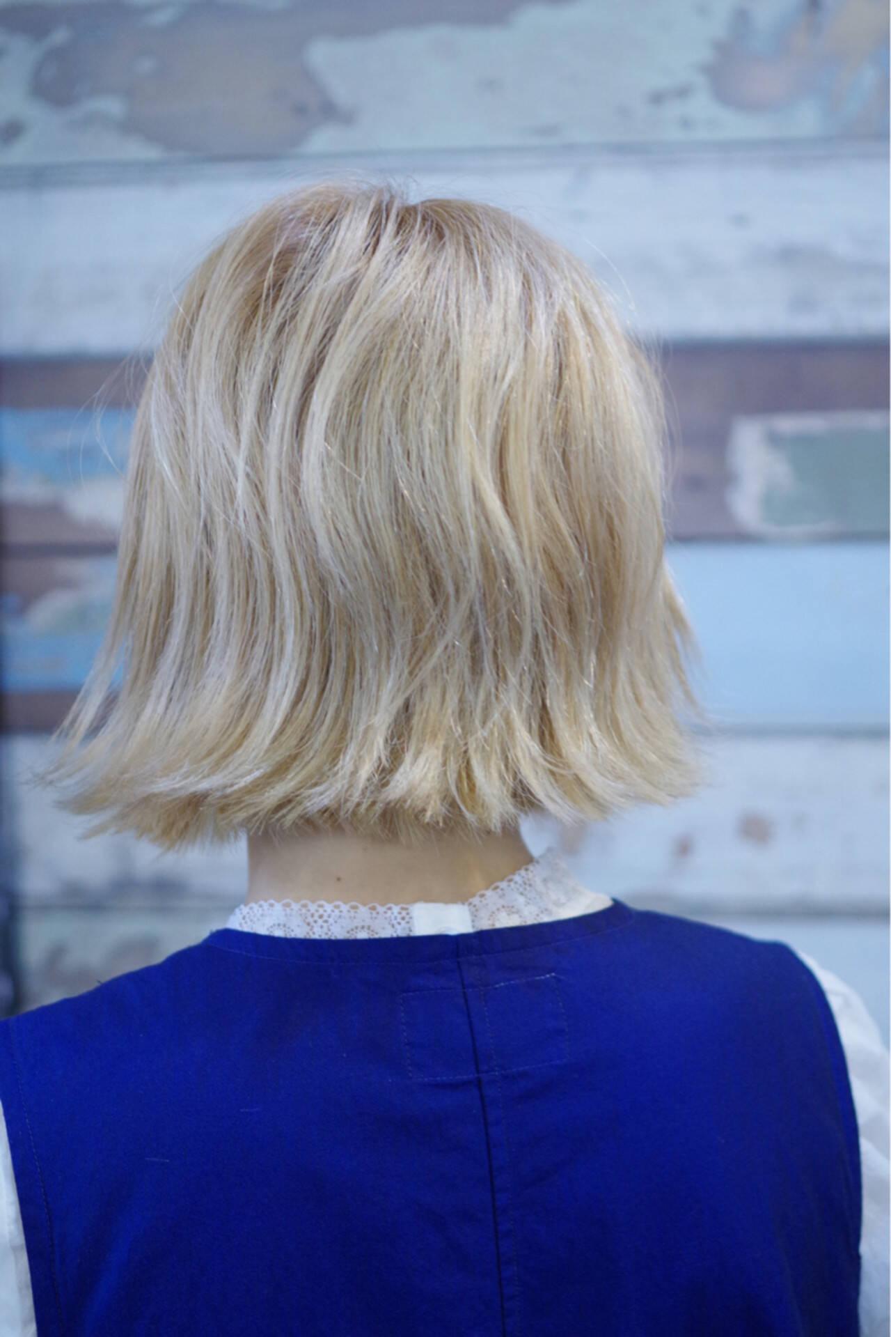 切りっぱなし 外国人風 ミディアム ストリートヘアスタイルや髪型の写真・画像