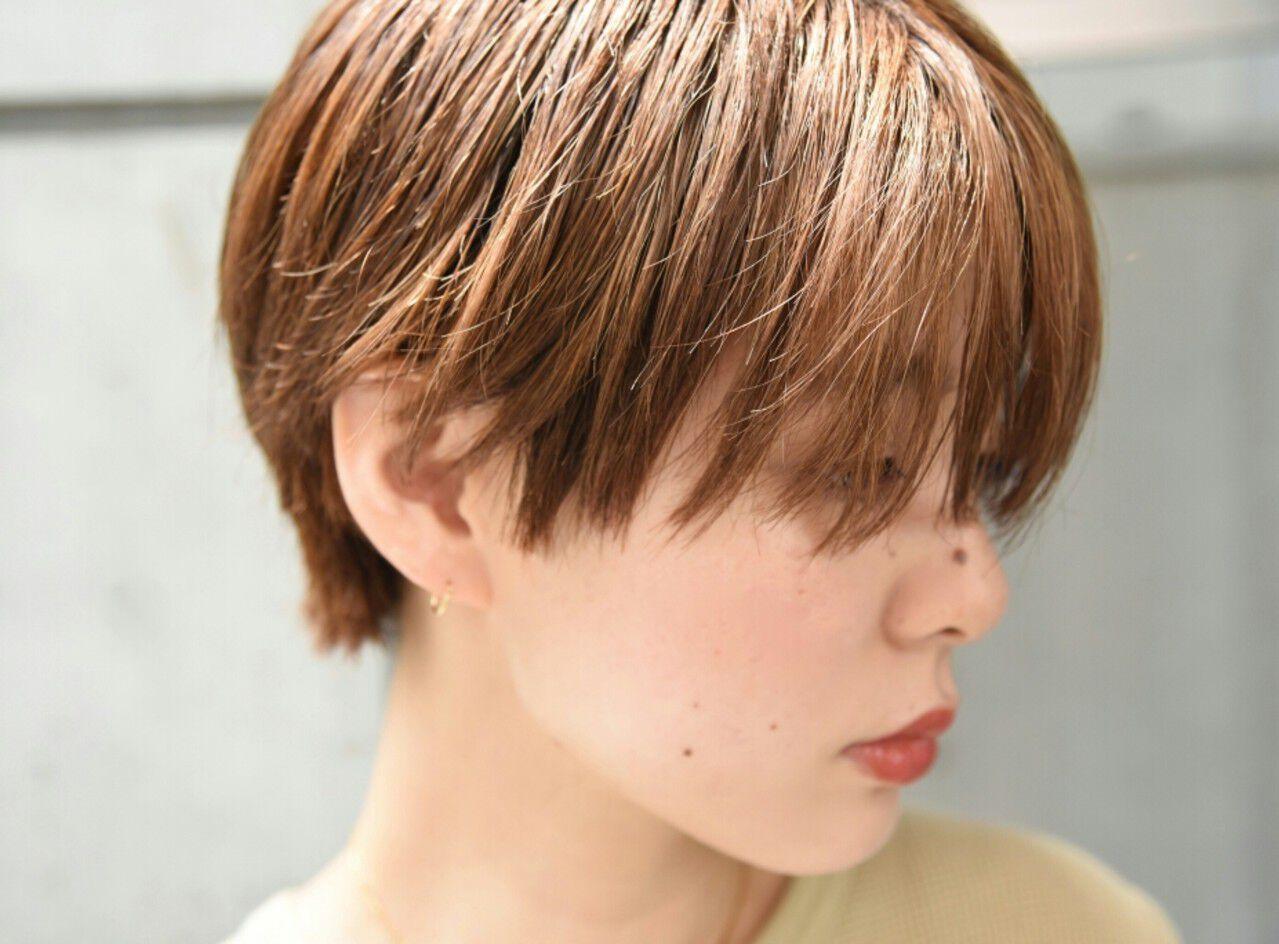 前髪あり 外国人風 ハイトーン ショートヘアスタイルや髪型の写真・画像