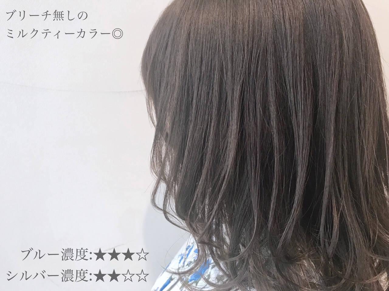 ミルクティーベージュ アンニュイほつれヘア ミルクティーブラウン ミルクティーアッシュヘアスタイルや髪型の写真・画像