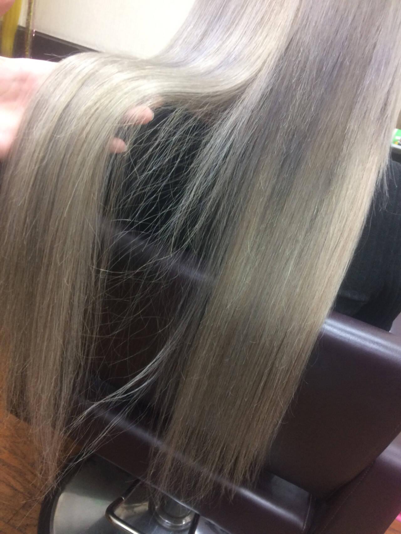 ガーリー ロング ハイトーン エクステヘアスタイルや髪型の写真・画像