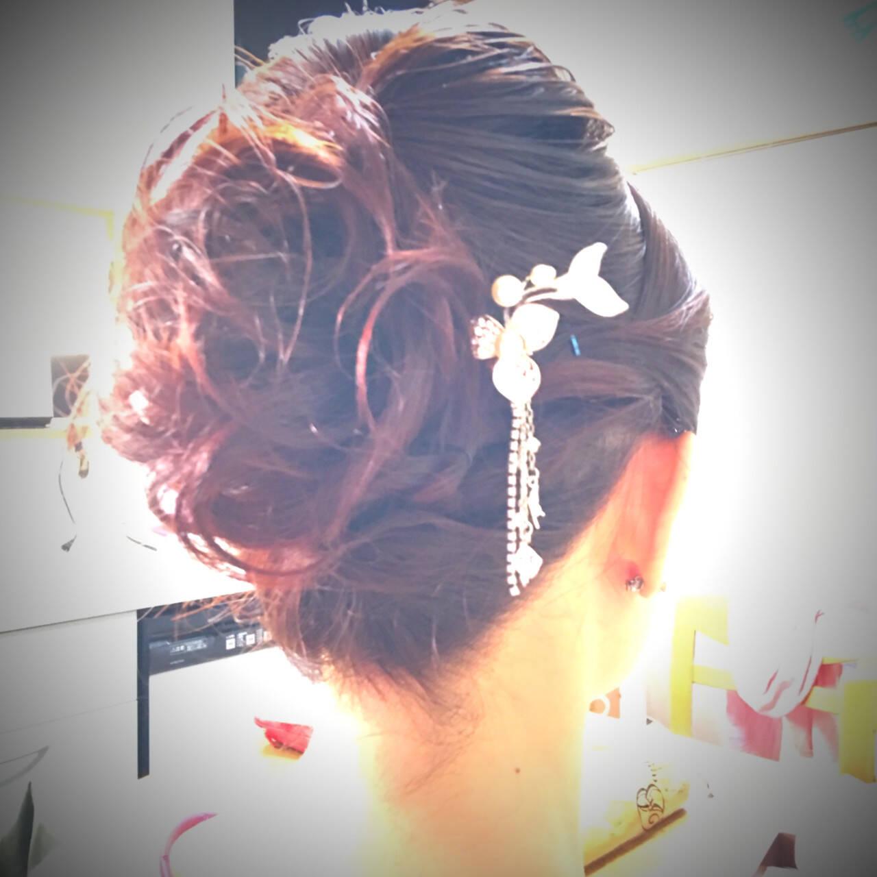 結婚式 エレガント 和装髪型 和装ヘアヘアスタイルや髪型の写真・画像