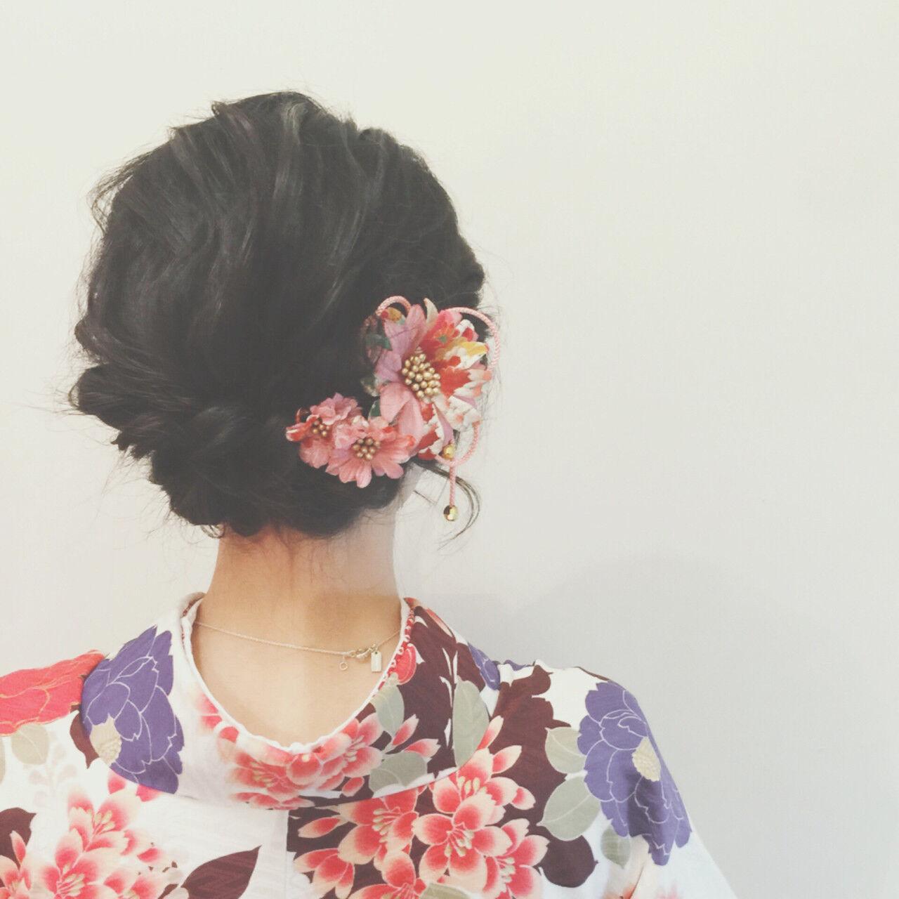 簡単ヘアアレンジ ヘアアレンジ 大人かわいい 謝恩会ヘアスタイルや髪型の写真・画像