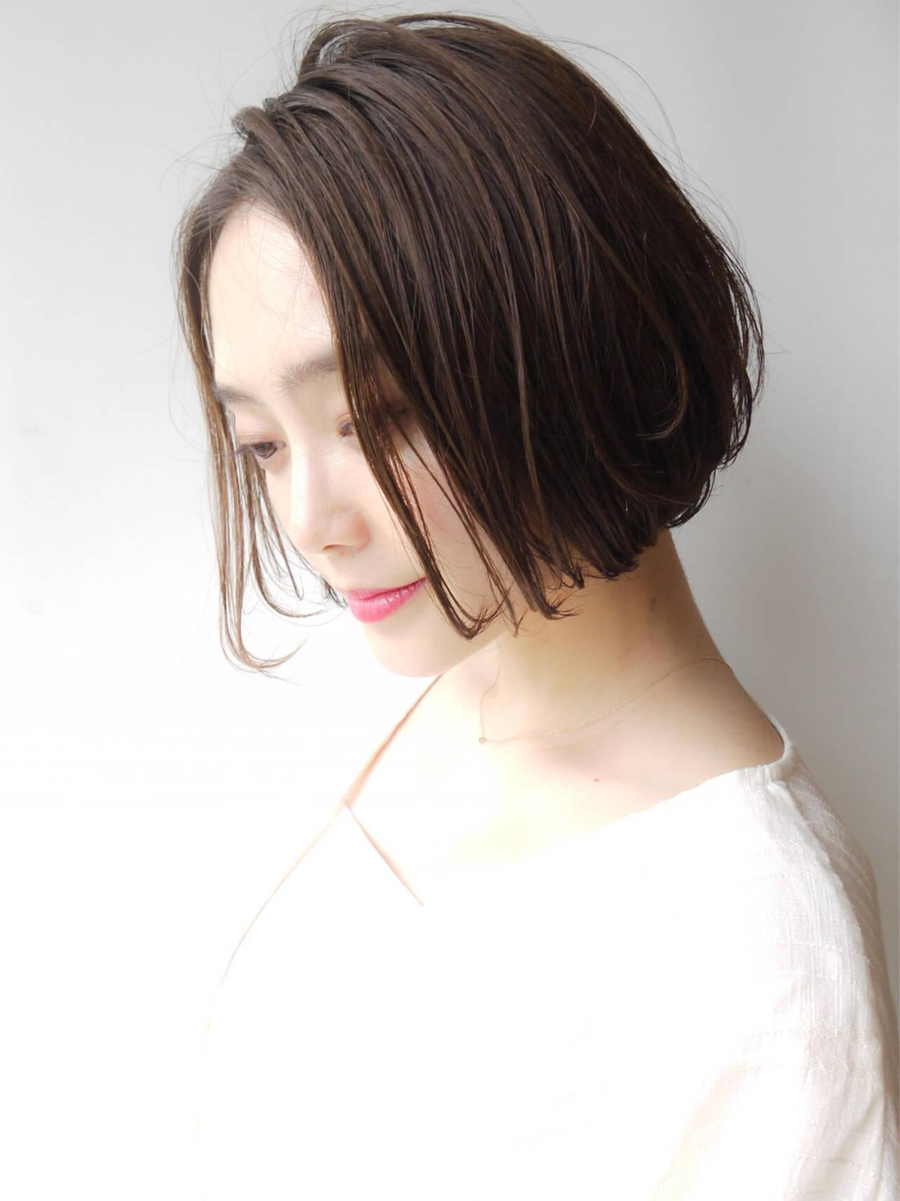 フェミニン コンサバ ゆるふわ ショートボブヘアスタイルや髪型の写真・画像