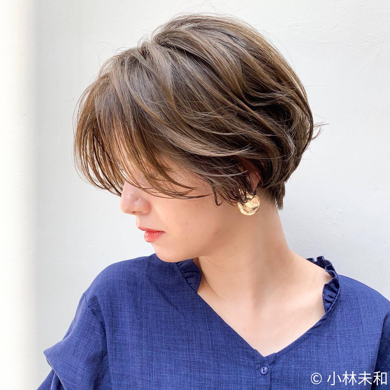 透明感カラー 外国人風カラー ナチュラル ベリーショートヘアスタイルや髪型の写真・画像