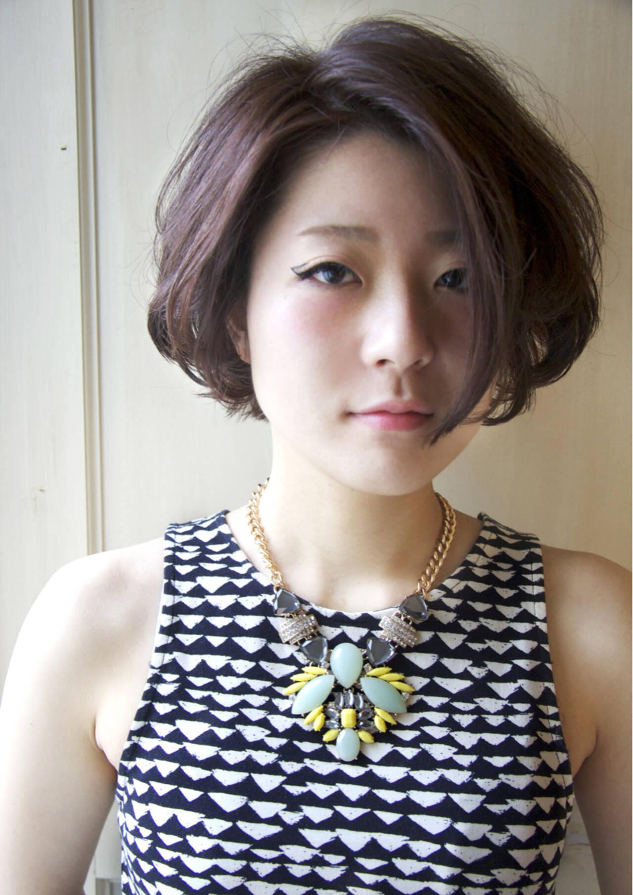 アッシュ パーマ モード 外国人風ヘアスタイルや髪型の写真・画像