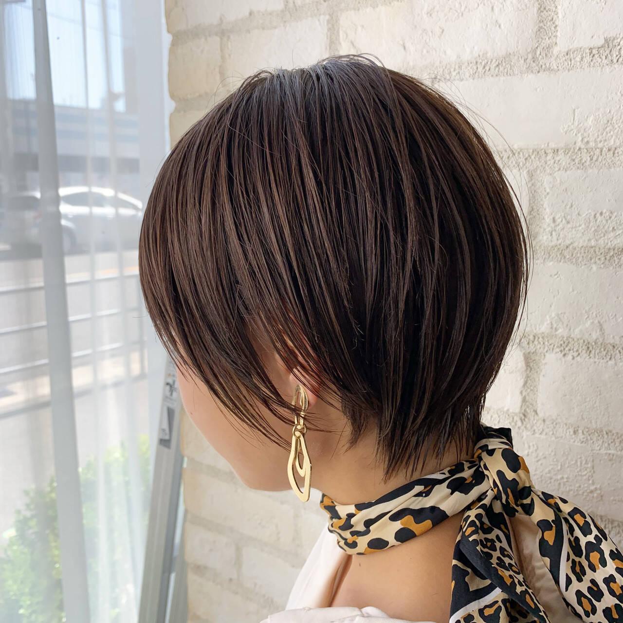 デート ショートボブ ヘアアレンジ ショートヘアスタイルや髪型の写真・画像